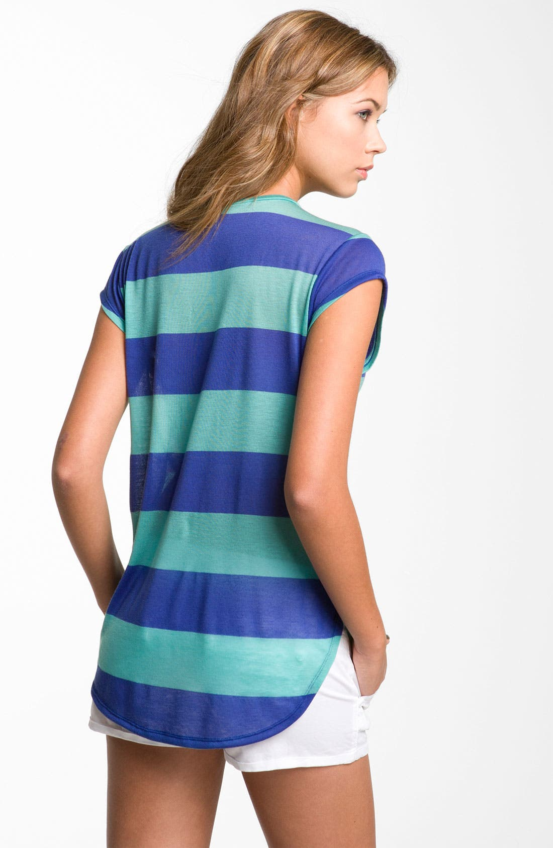 Alternate Image 2  - BP. Stripe Oversized Tee (Juniors)