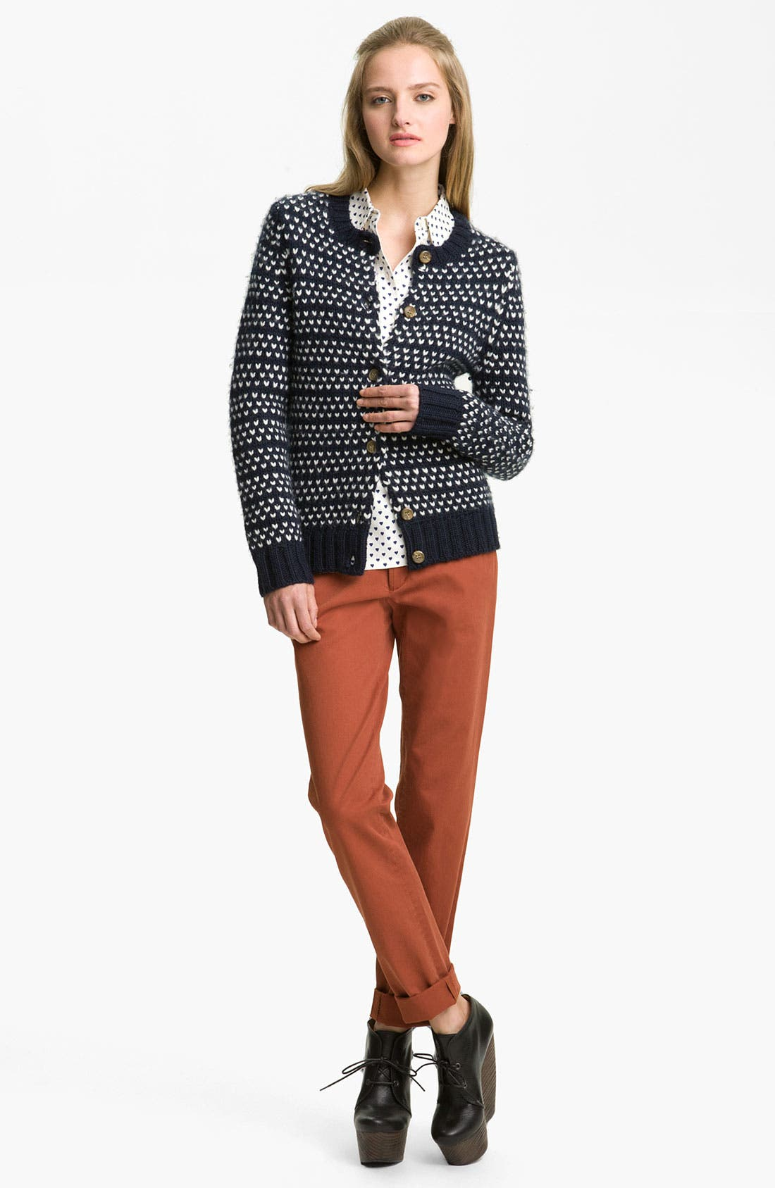Alternate Image 1 Selected - A.P.C. Heart Cardigan