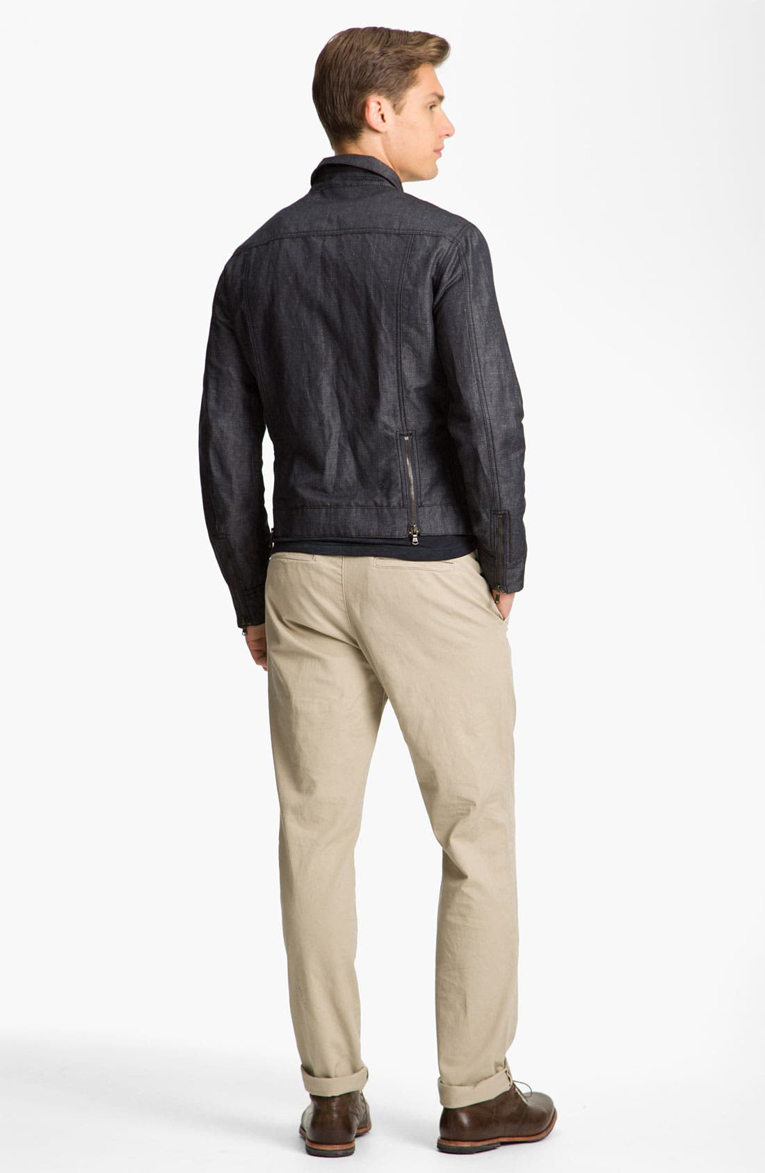 Alternate Image 5  - John Varvatos Star USA Cotton & Linen Jean Jacket