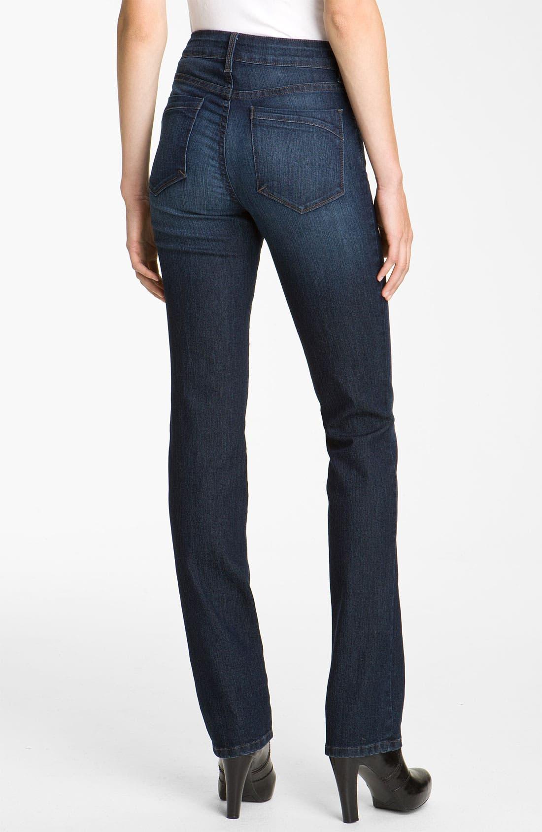 Alternate Image 2  - NYDJ 'Marilyn' Straight Leg Stretch Jeans (Long)