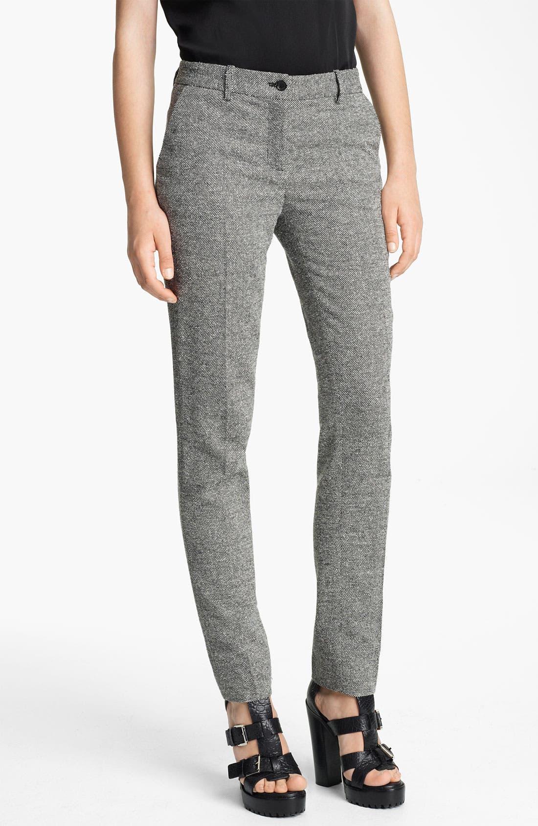 Alternate Image 1 Selected - Michael Kors 'Samantha' Skinny Donegal Tweed Pants