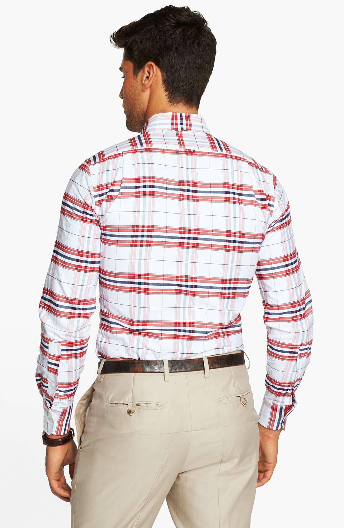 Alternate Image 2  - Thom Browne Plaid Oxford Shirt