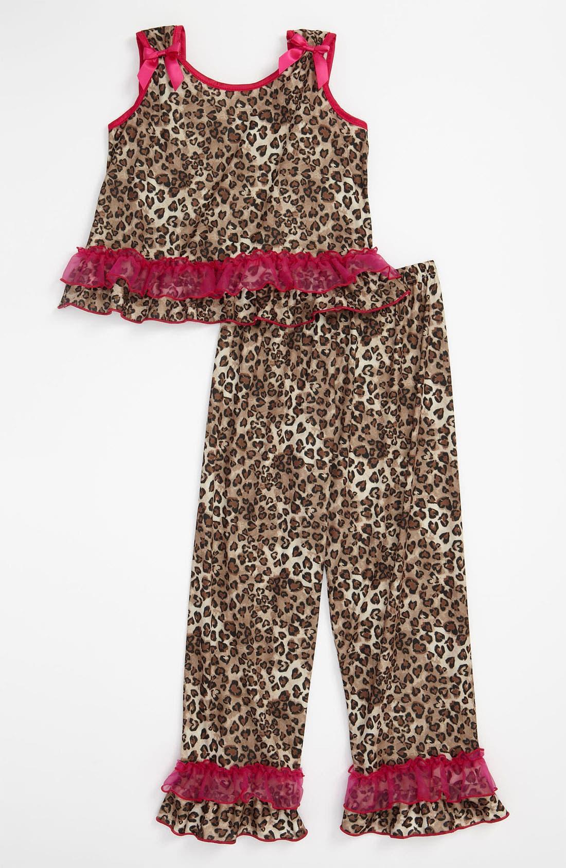 Alternate Image 1 Selected - Laura Dare Animal Print Pajamas (Little Girls)