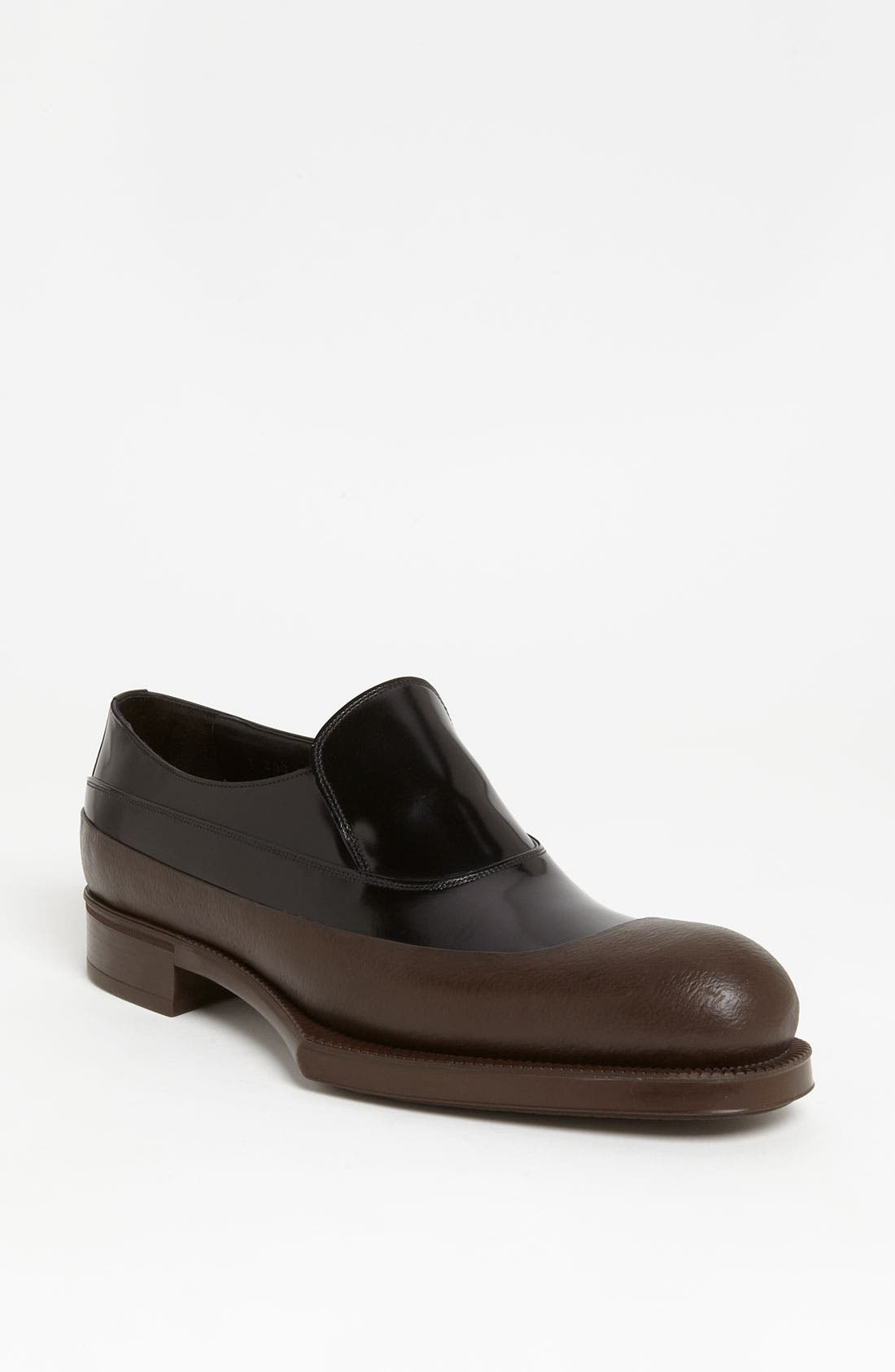 Alternate Image 1 Selected - Prada Rubber Tipped Loafer