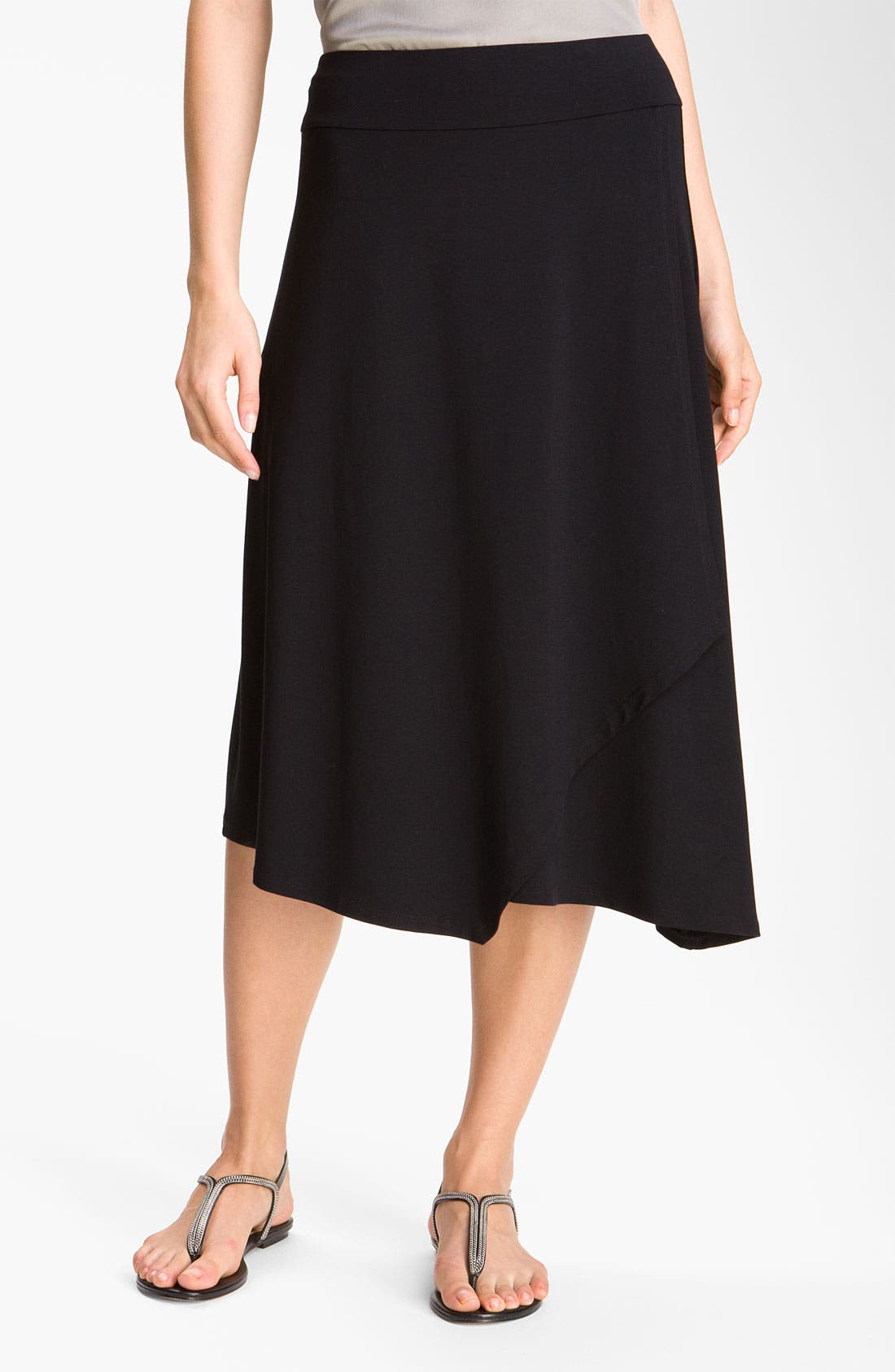 Alternate Image 1 Selected - Eileen Fisher Faux Wrap Jersey Skirt