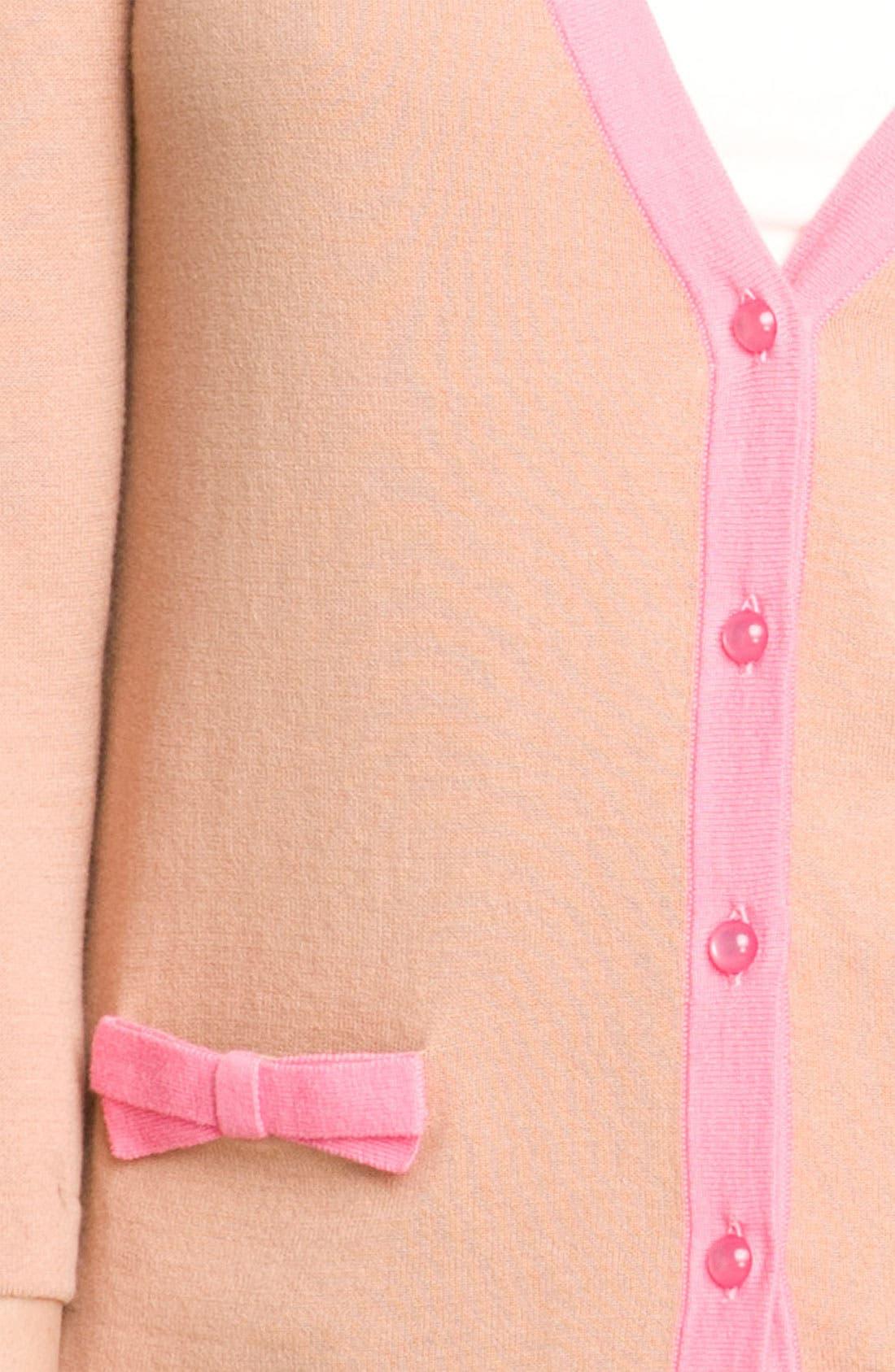 Alternate Image 3  - Frenchi® Bow Pocket Cardigan (Juniors)