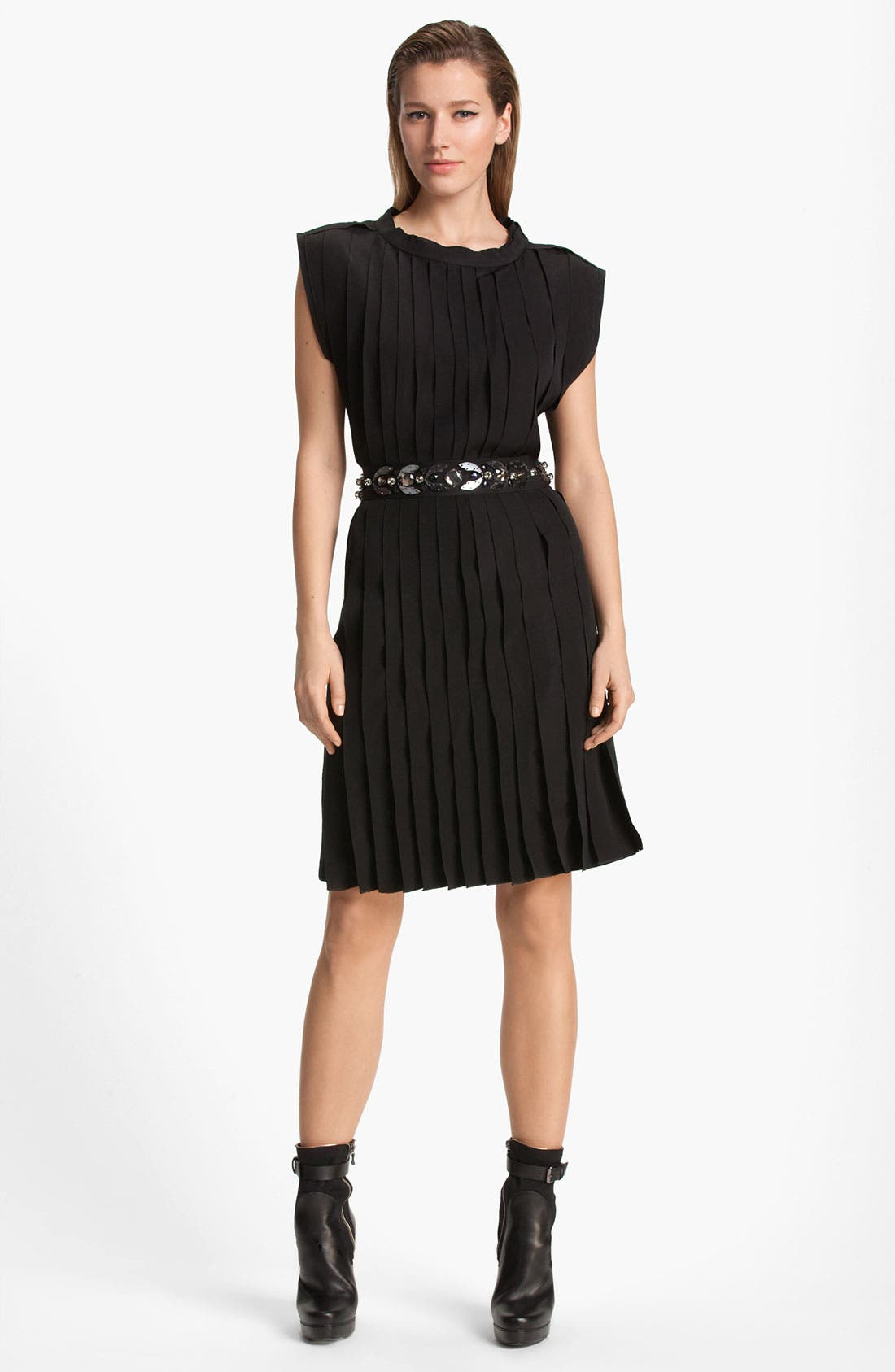 Alternate Image 1 Selected - Lanvin Belted Sleeveless Jersey Dress