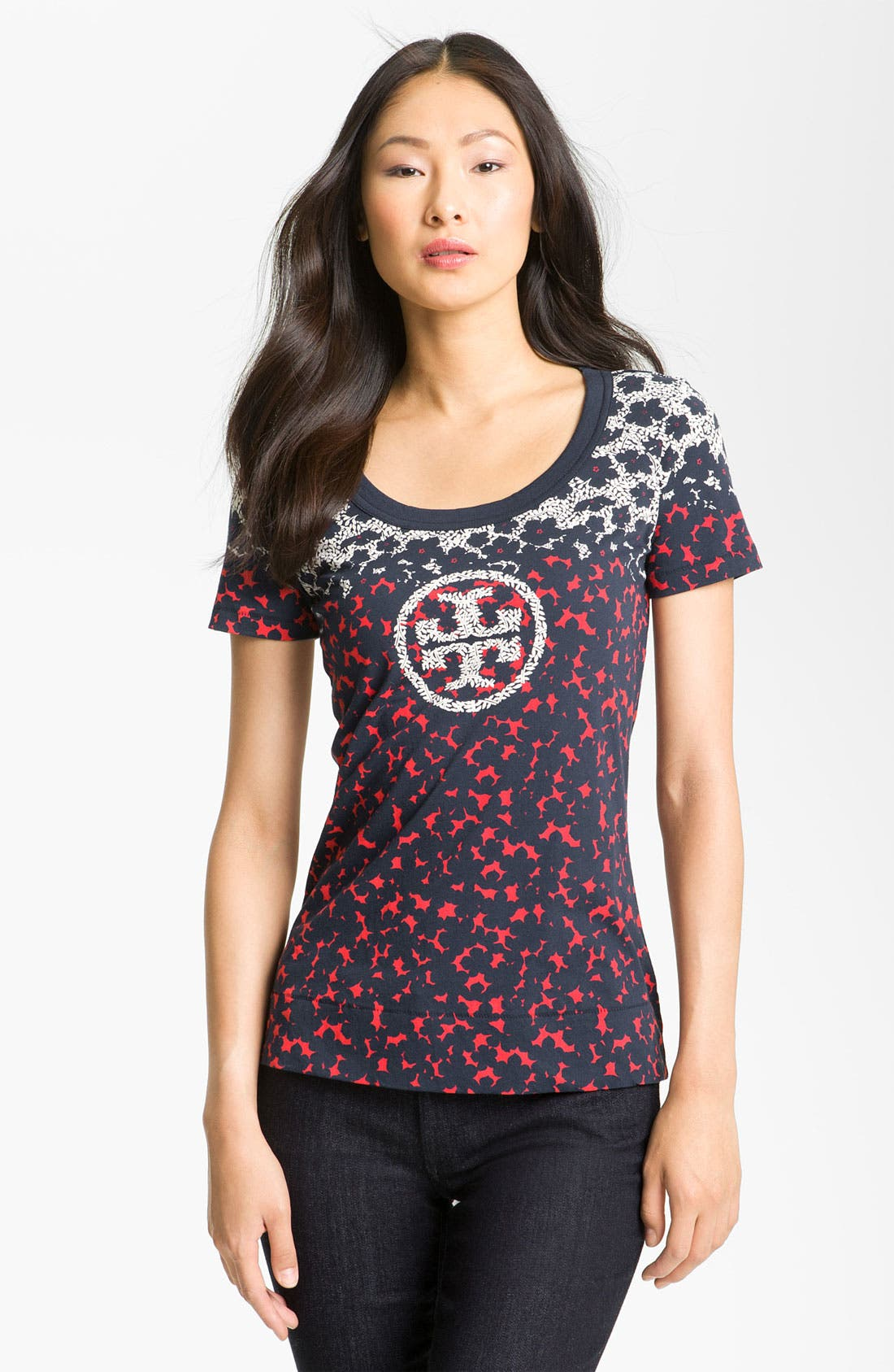 Alternate Image 1 Selected - Tory Burch 'Wendy' Graphic Tee