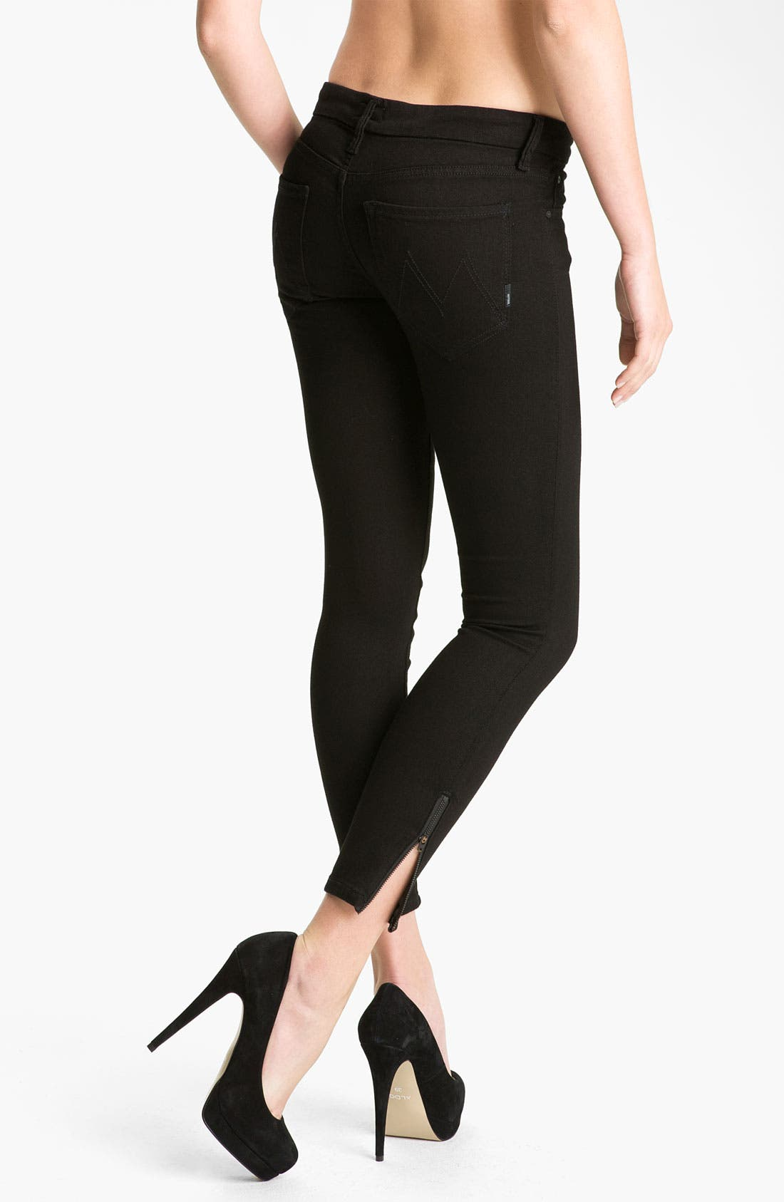 Alternate Image 2  - MOTHER 'The Looker' Crop Skinny Jeans (A Model Spy)