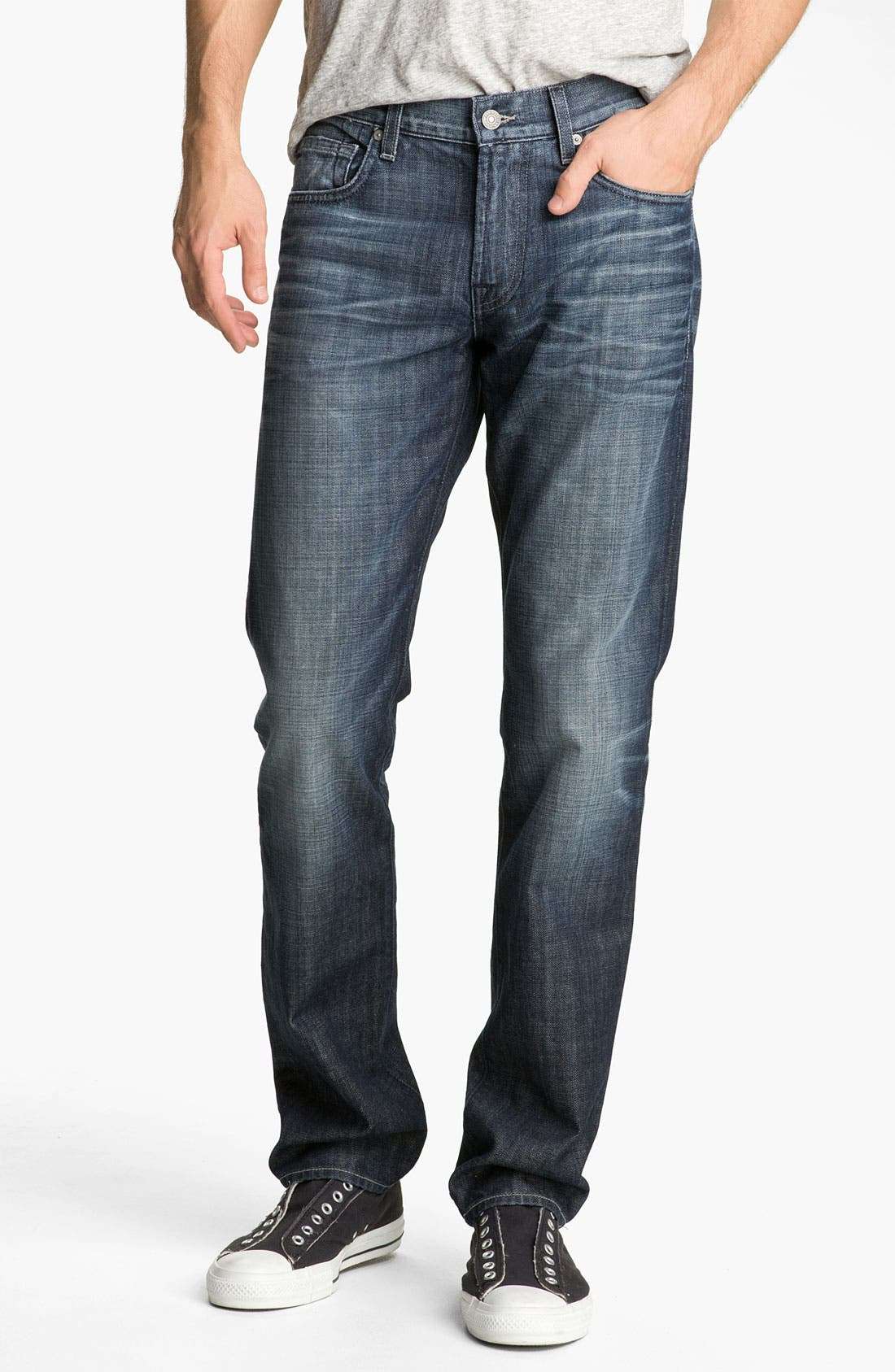 Alternate Image 2  - 7 For All Mankind® 'The Straight' Slim Straight Leg Jeans (Crater Lake)