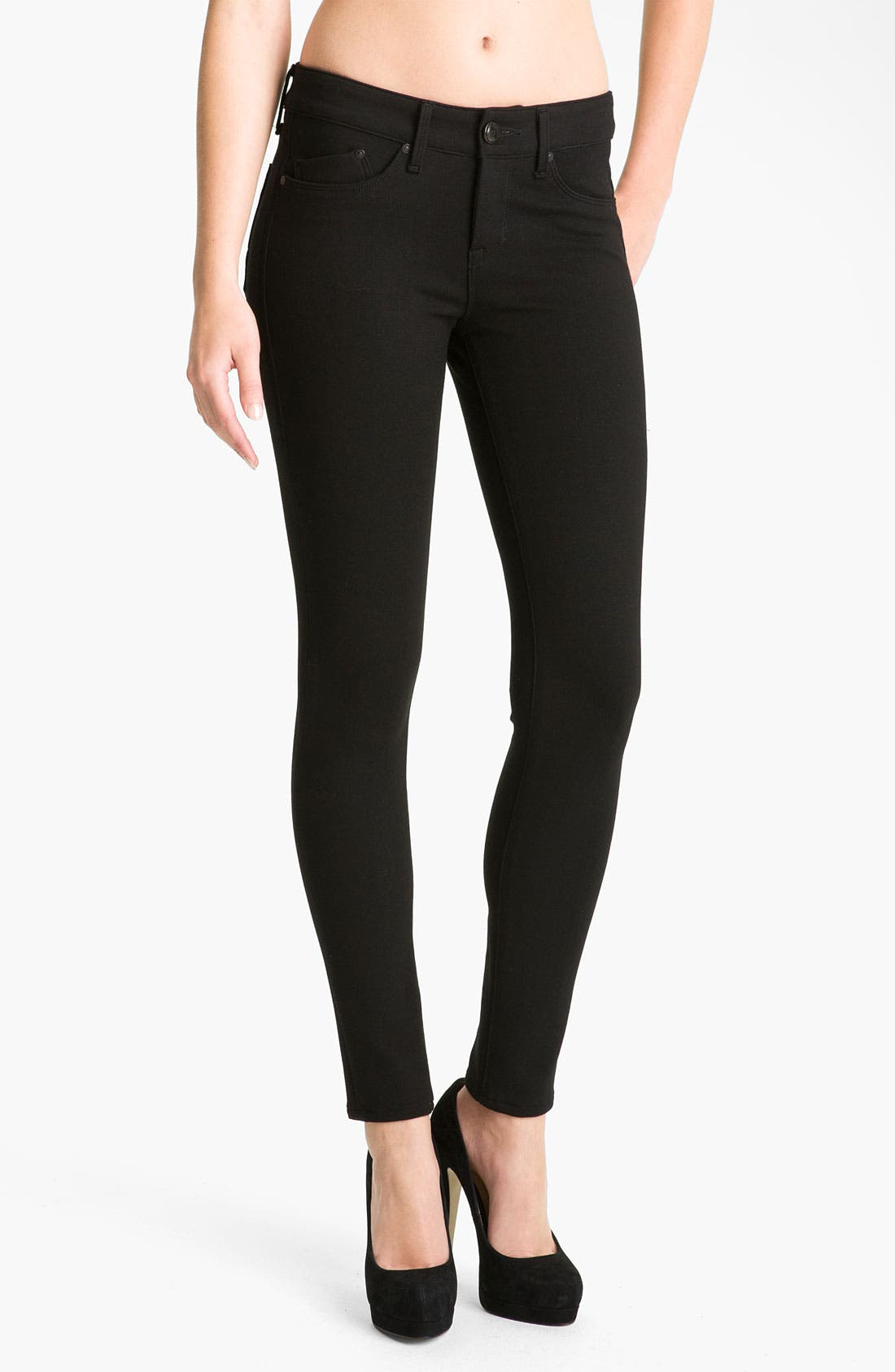 Main Image - Dylan George 'Runway' Mid Rise Stretch Knit Leggings