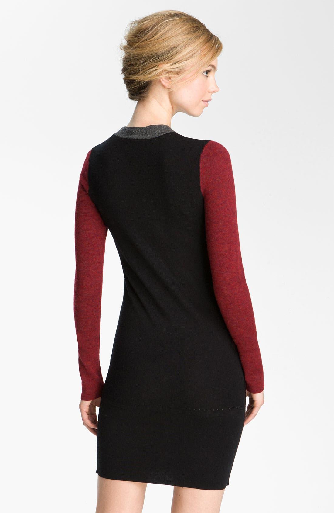Alternate Image 2  - Derek Lam 10 Crosby Colorblock Merino Wool Dress