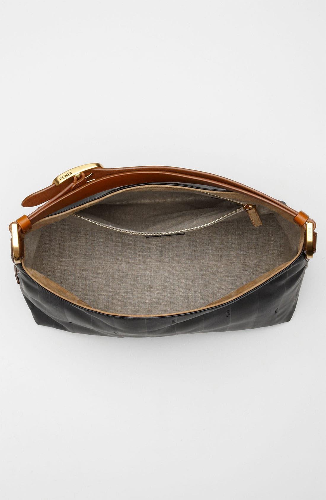 Alternate Image 3  - Fendi 'Paris Pequin - Small' Leather Hobo