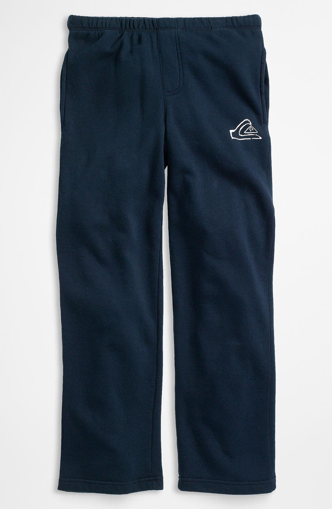 Main Image - Quiksilver 'Rest Stop' Fleece Pants (Little Boys)