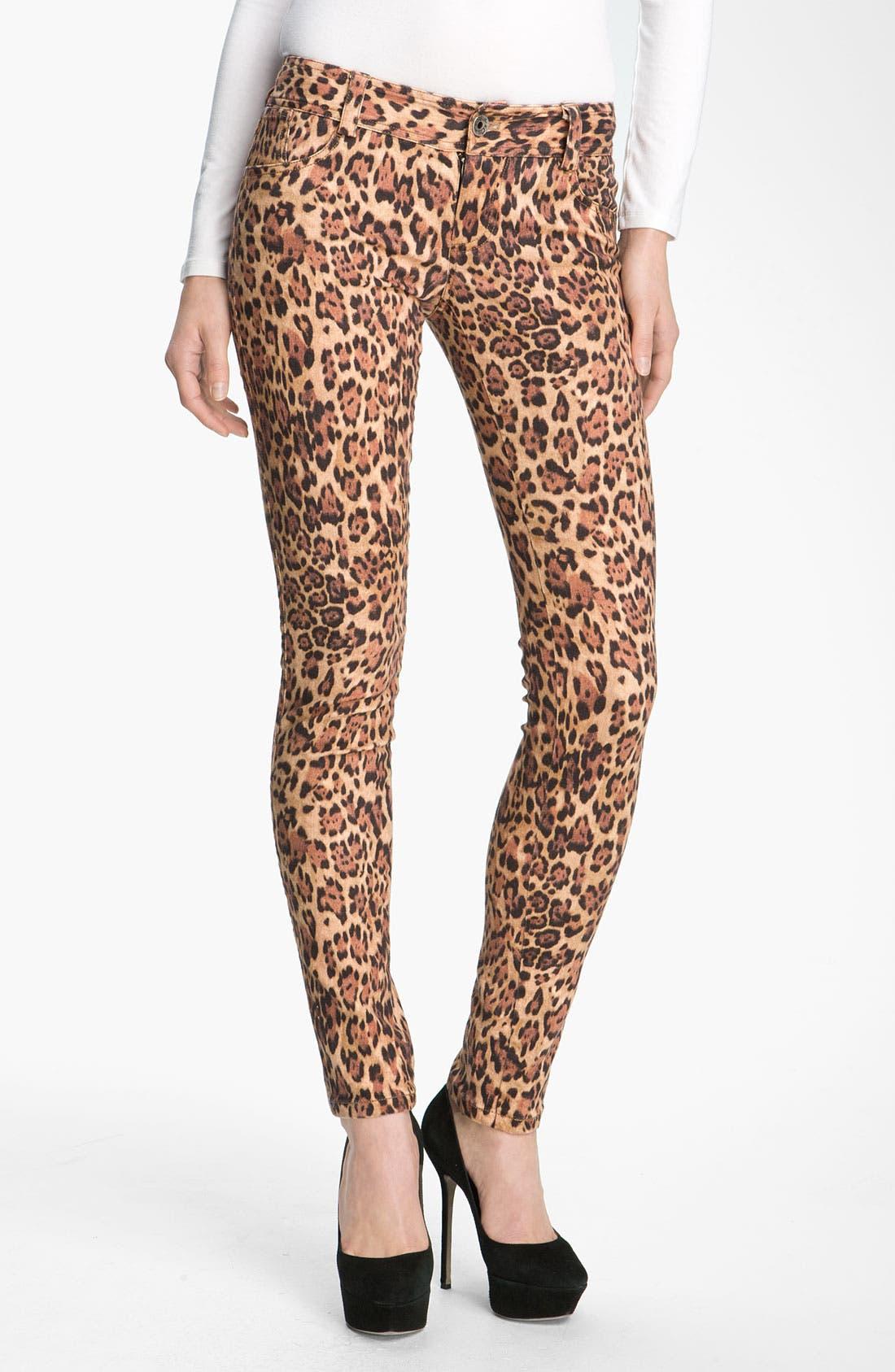 Alternate Image 2  - Alice + Olivia Jaguar Print Skinny Jeans