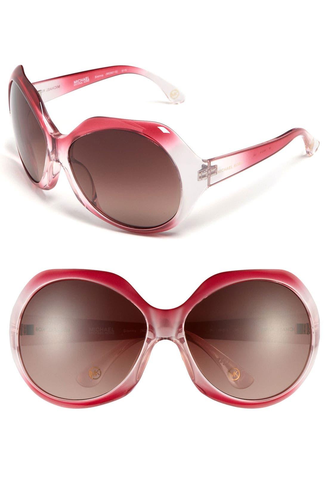 Alternate Image 1 Selected - MICHAEL Michael Kors 'Sienna' Oversized Sunglasses