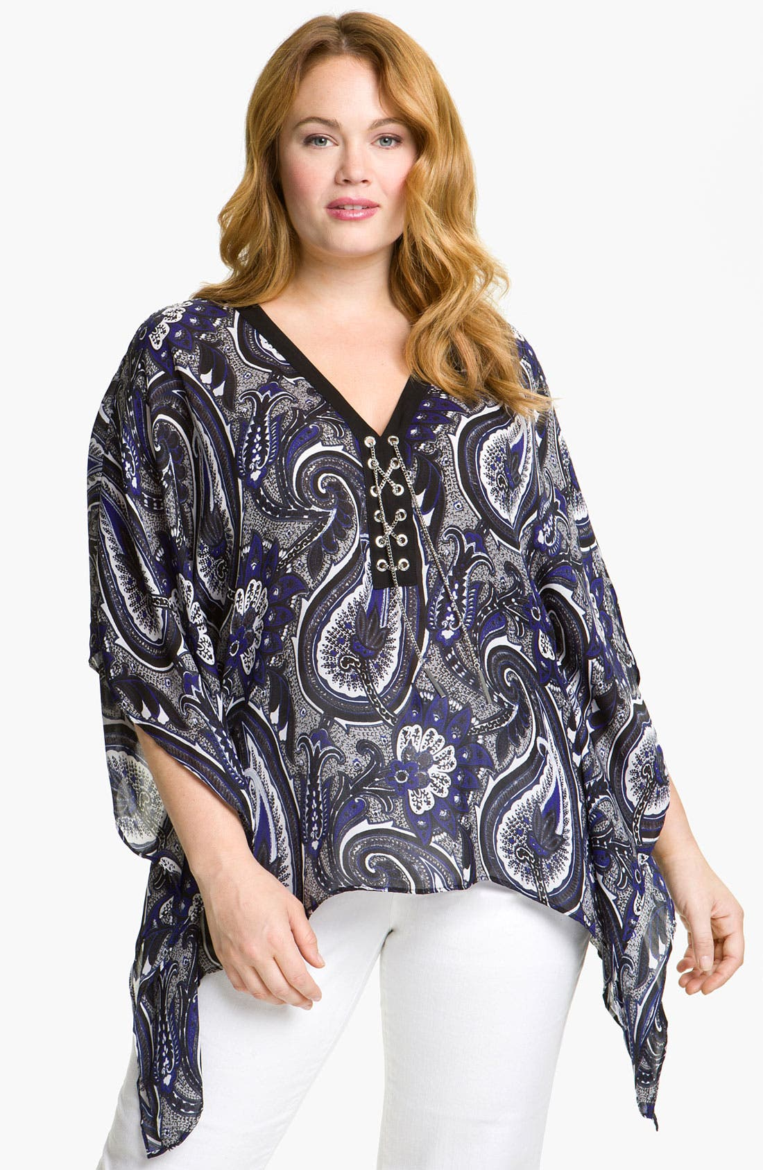 Alternate Image 1 Selected - MICHAEL Michael Kors 'Somerset' Poncho (Plus)
