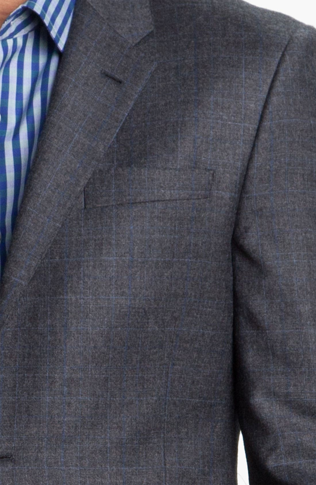 Alternate Image 6  - Paul Smith London Grid Print Wool Suit