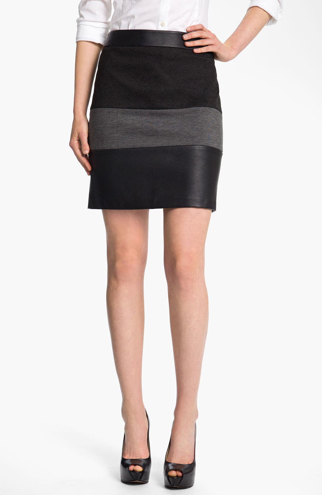Main Image - Halogen® Mixed Media Skirt