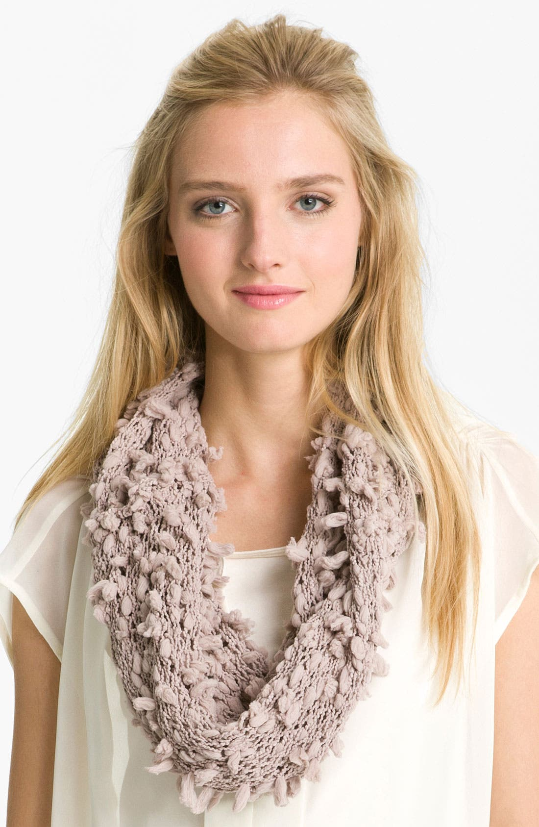 Alternate Image 1 Selected - Tarnish Tassel Infinity Scarf