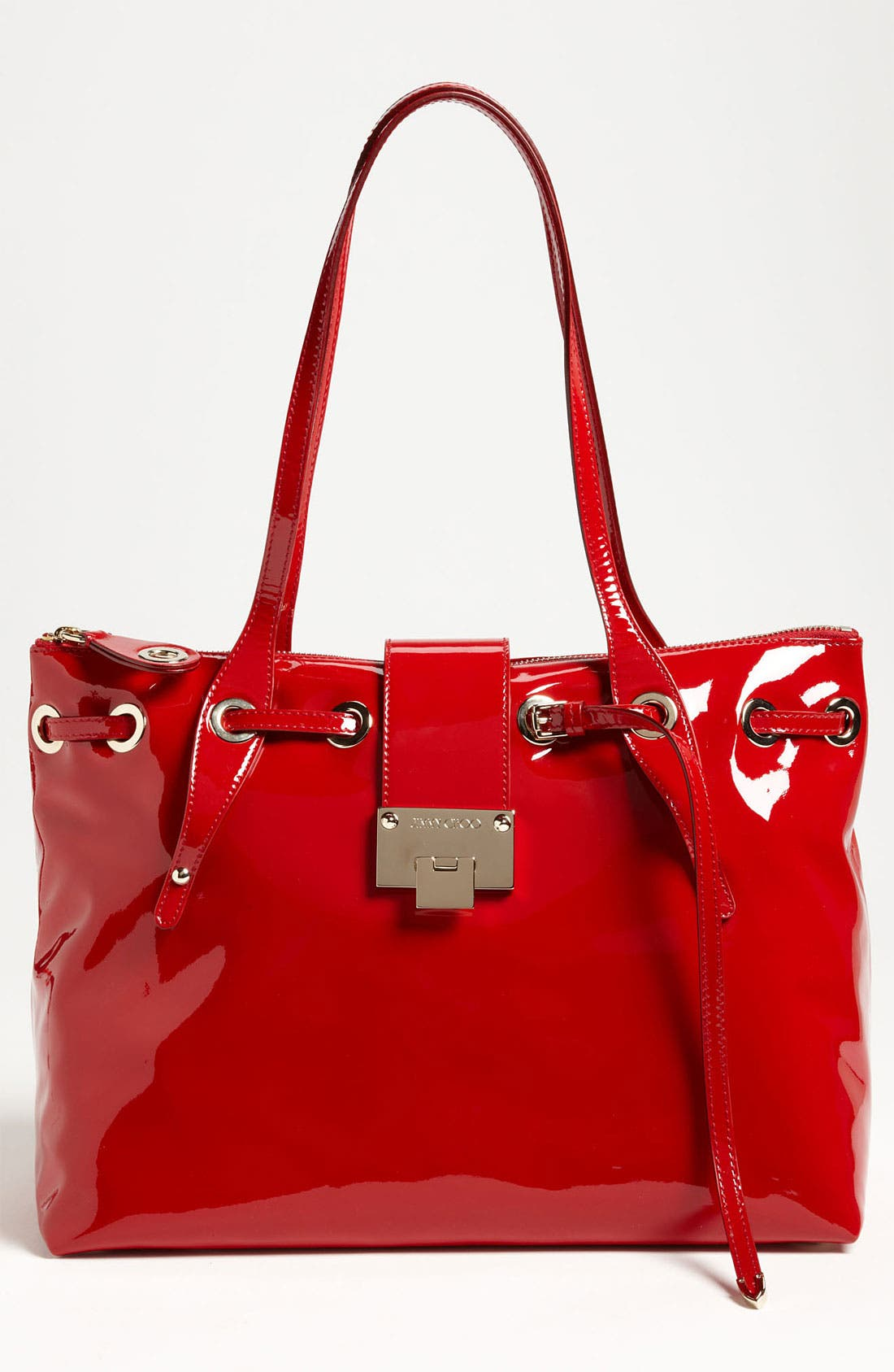 Alternate Image 1 Selected - Jimmy Choo 'Rhea' Patent Leather Tote