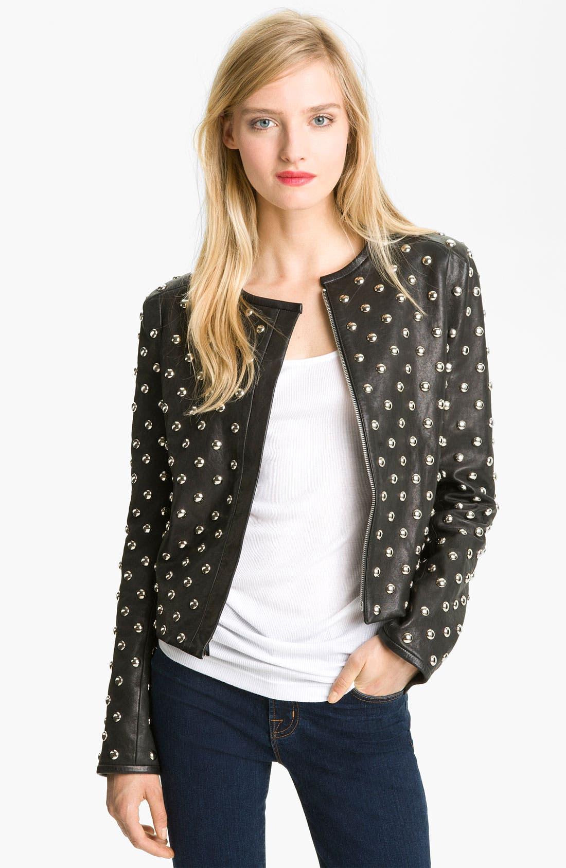 Main Image - Diane von Furstenberg 'Kate' Studded Leather Jacket