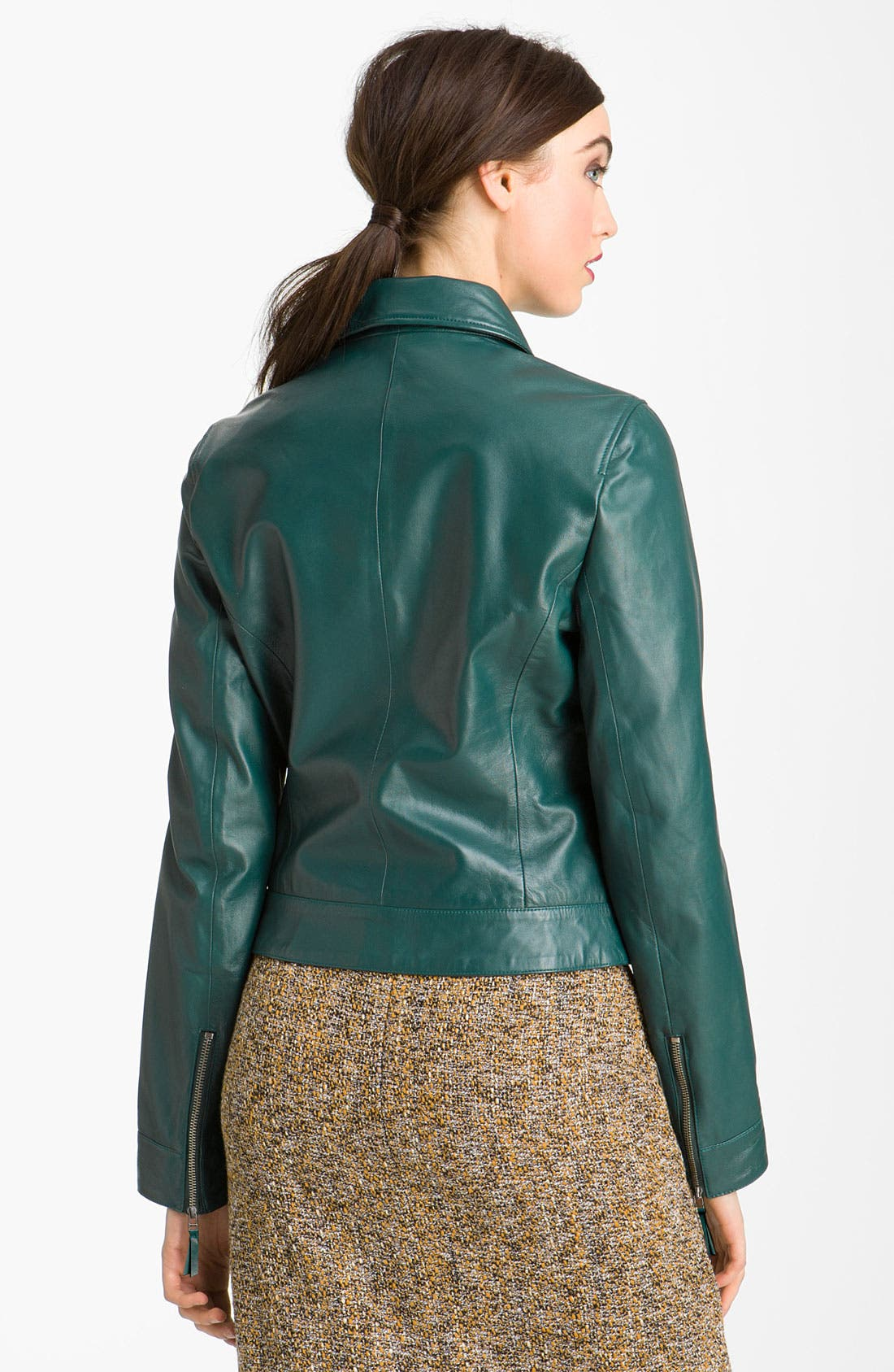 Alternate Image 2  - John Carlisle Leather Moto Jacket