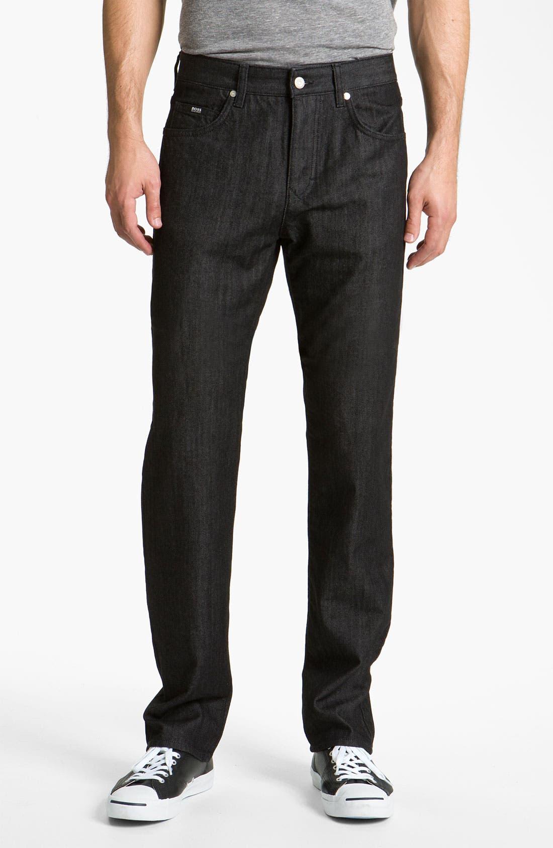 Alternate Image 1 Selected - BOSS Black 'Kansas' Straight Leg Jeans