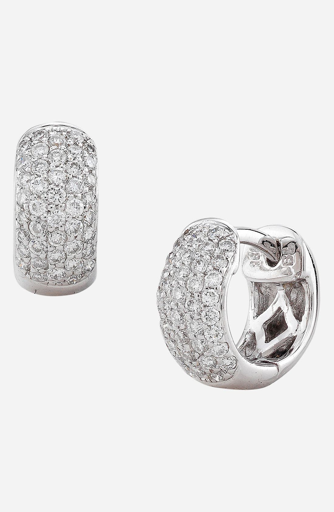 Main Image - Bony Levy 5-Row Pavé Diamond Hoop Earrings (Nordstrom Exclusive)