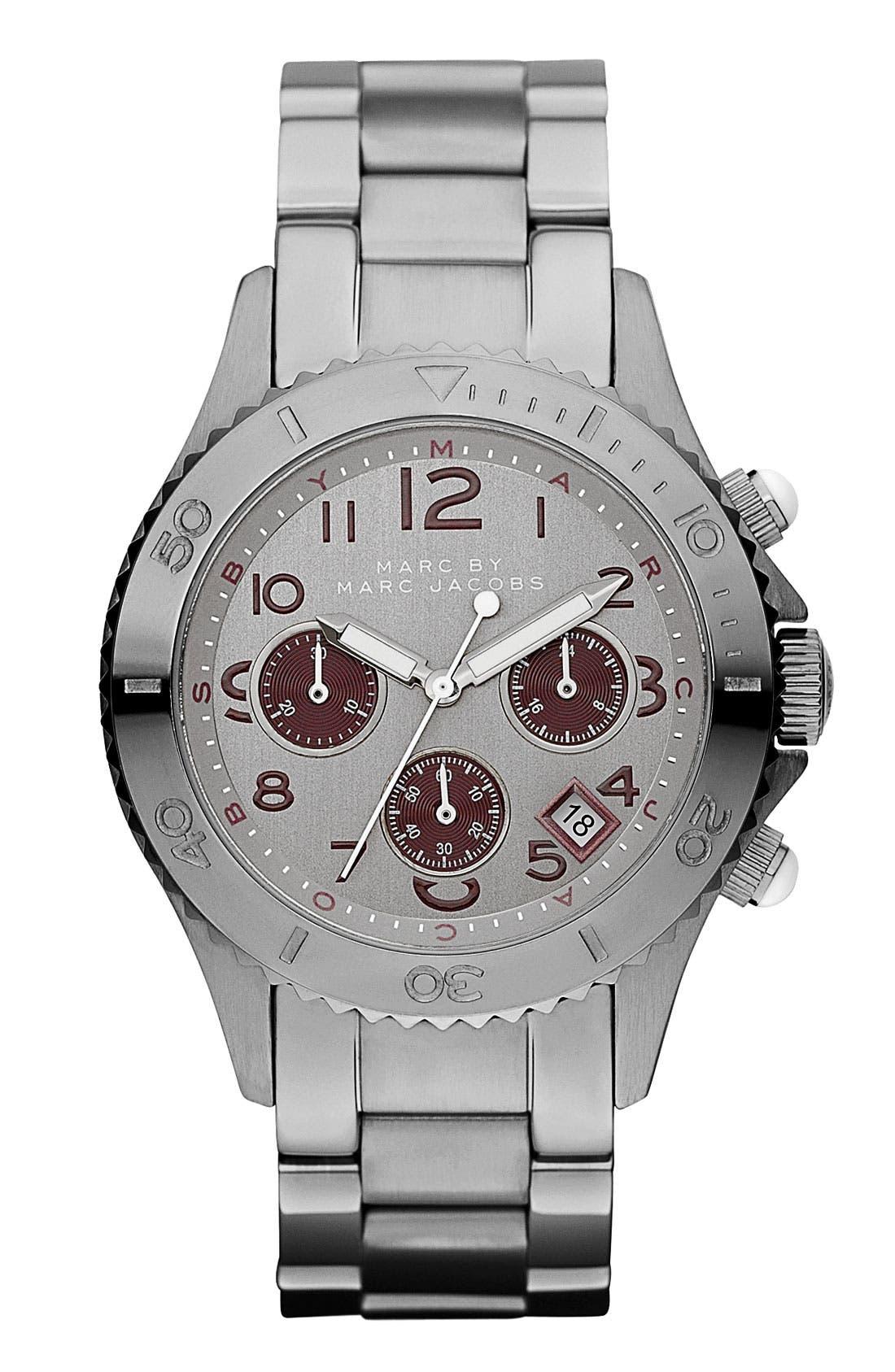 Alternate Image 1 Selected - MARC JACOBS 'Rock' Chronograph Bracelet Watch, 40mm