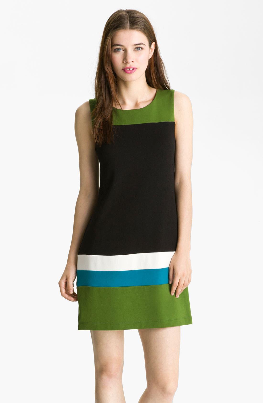Main Image - B44 Dressed by Bailey 'Carlo' Colorblock Ponte Shift Dress