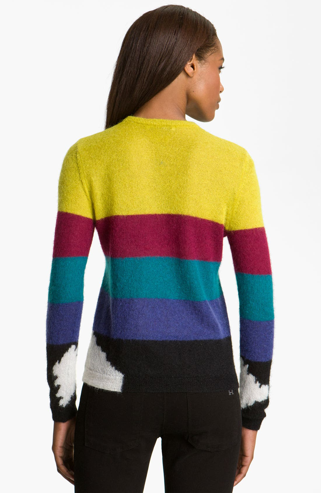 Alternate Image 2  - Carven Stripe Mohair Pullover