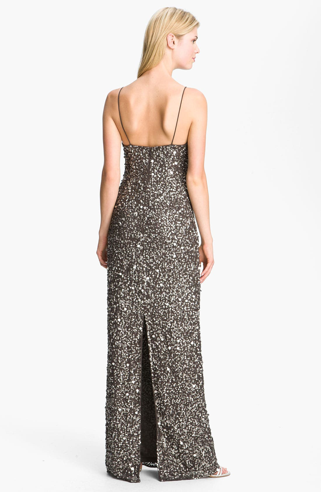 Alternate Image 2  - Adrianna Papell Sequin Chiffon Gown