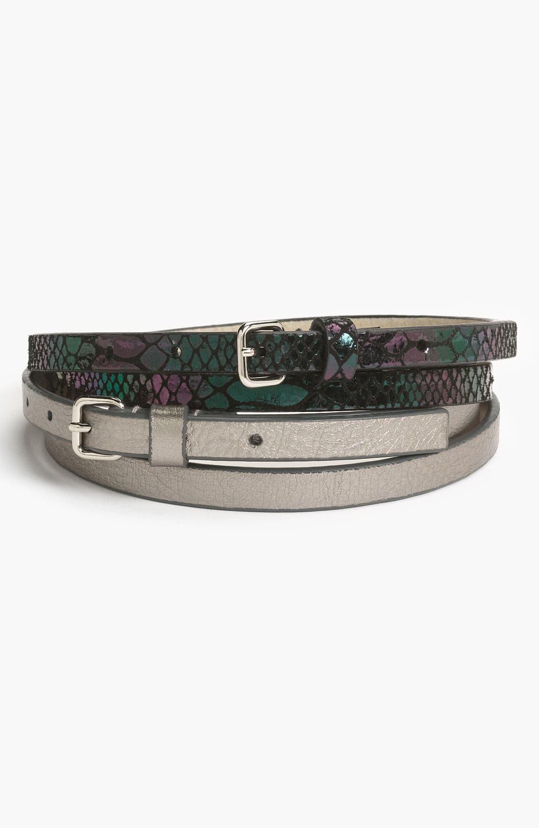 Alternate Image 1 Selected - Lodis '2-Fer' Leather Belts