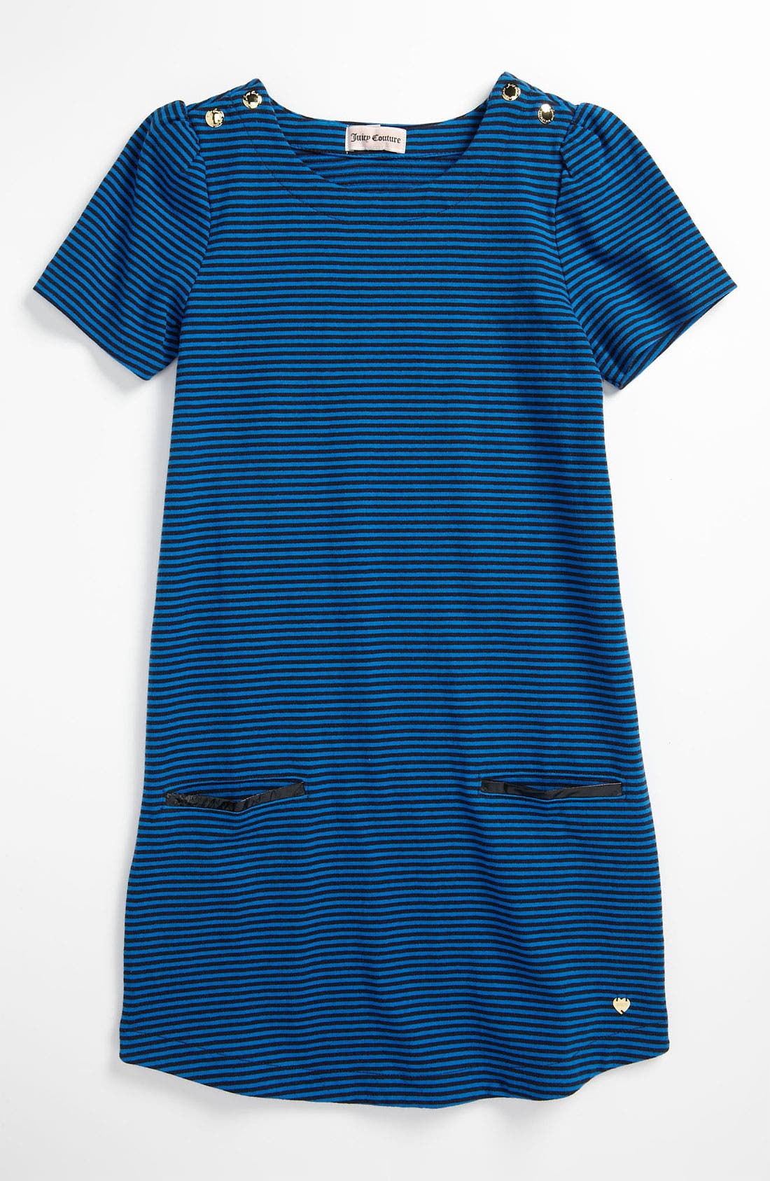 Main Image - Juicy Couture Stripe Jersey Dress (Little Girls & Big Girls)