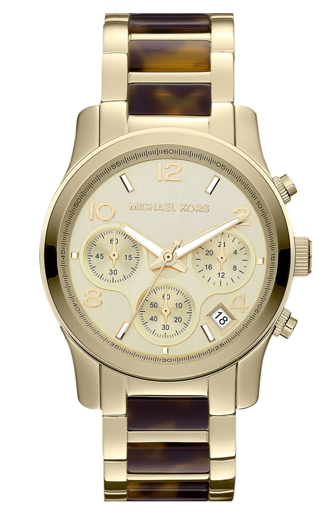 Main Image - Michael Kors 'Runway' Chronograph Bracelet Watch, 38mm