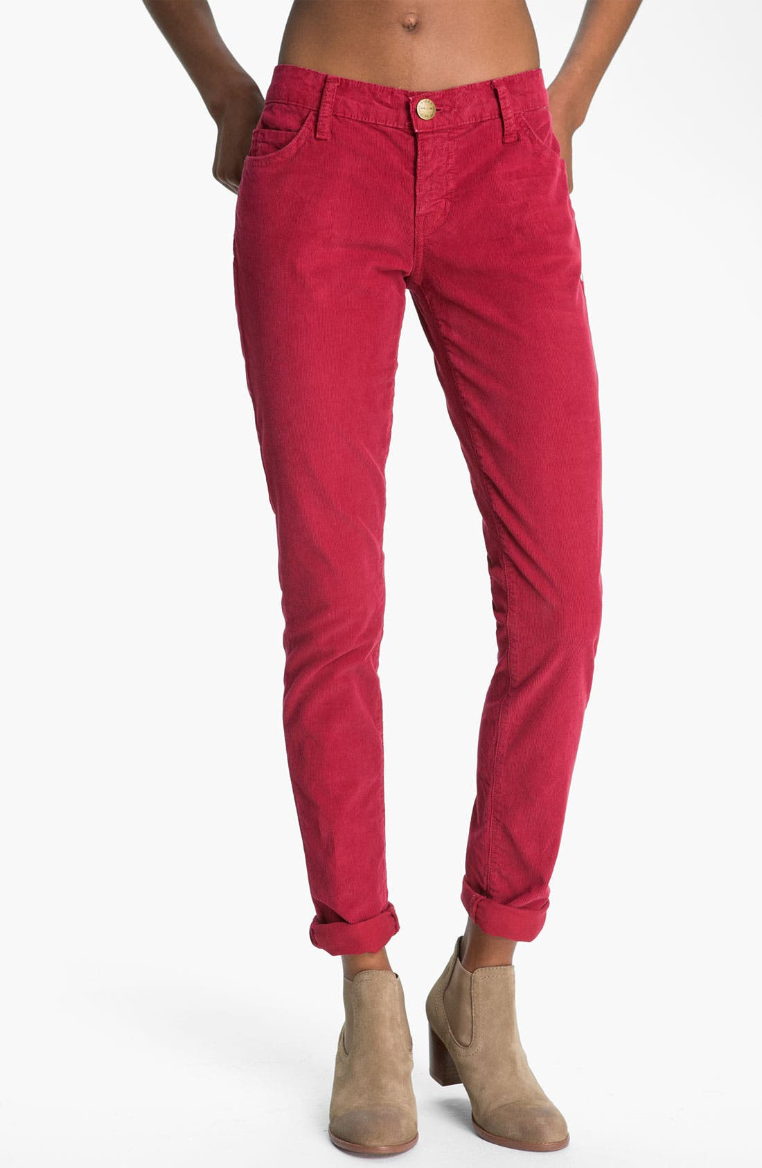 Main Image - Current/Elliott 'The Skinny' Stretch Jeans (Vintage Crimson)