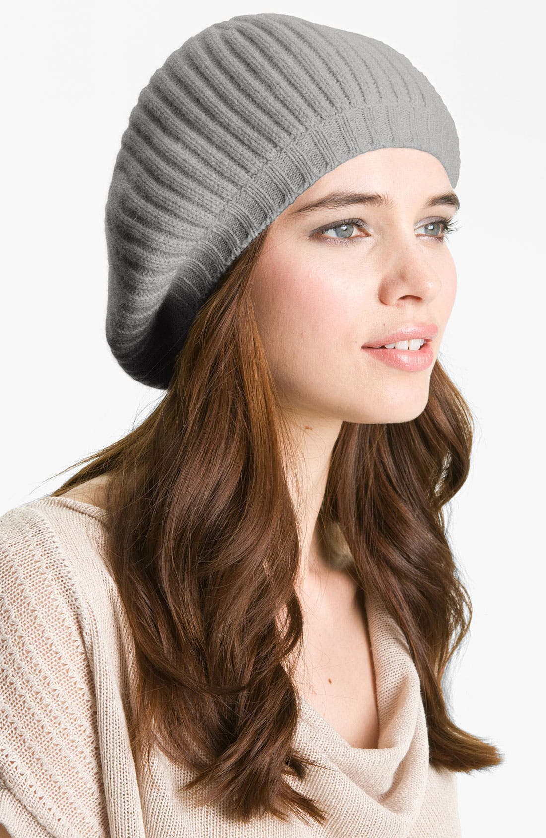 Alternate Image 1 Selected - Nordstrom Collection Ribbed Cashmere Beret