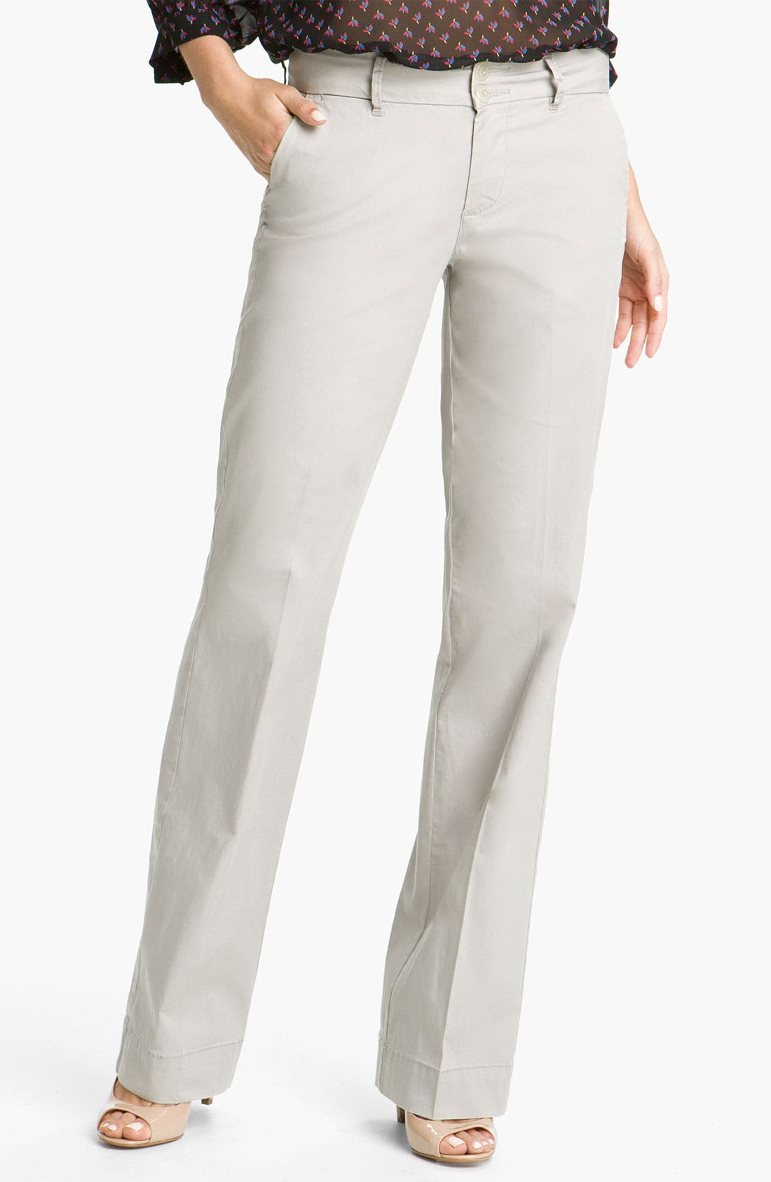 Alternate Image 1 Selected - Jag Jeans 'Pearl' Twill Trousers