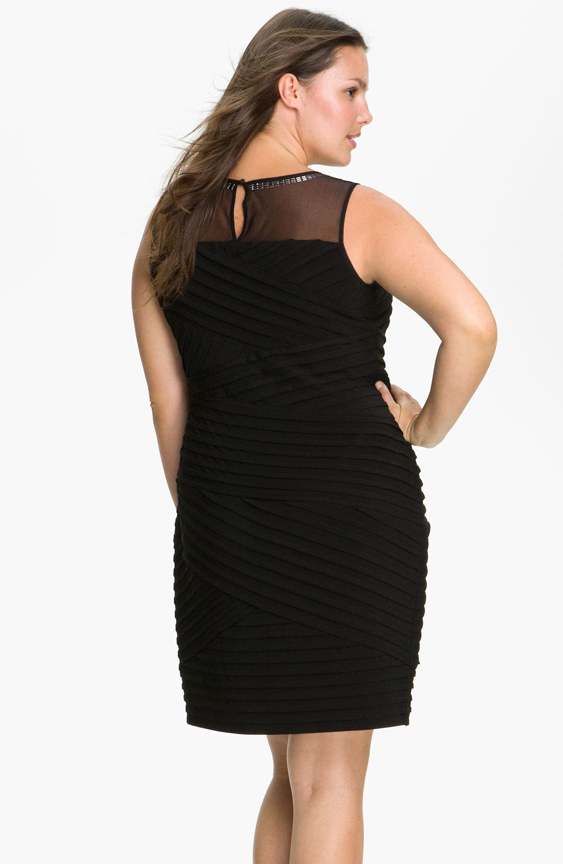 Alternate Image 2  - Calvin Klein Beaded Illusion Matte Jersey Sheath Dress (Plus)