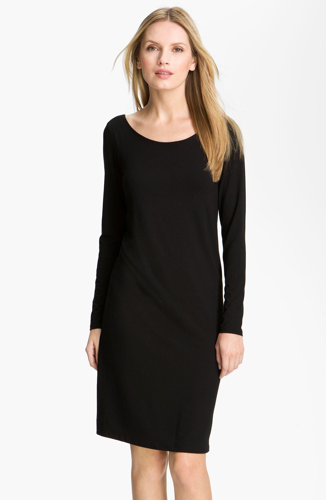 Alternate Image 1 Selected - Eileen Fisher V-Back Jersey Dress