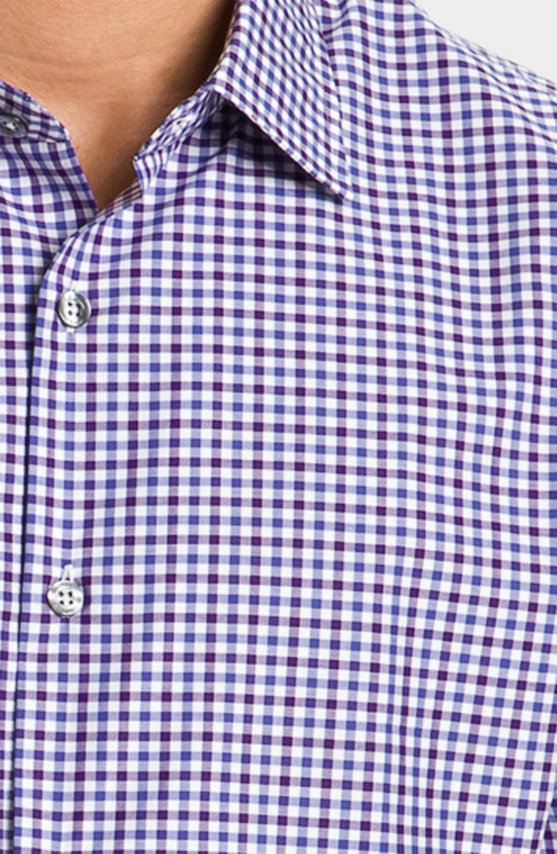 Alternate Image 3  - Paul Smith London Trim Fit Gingham Check Dress Shirt