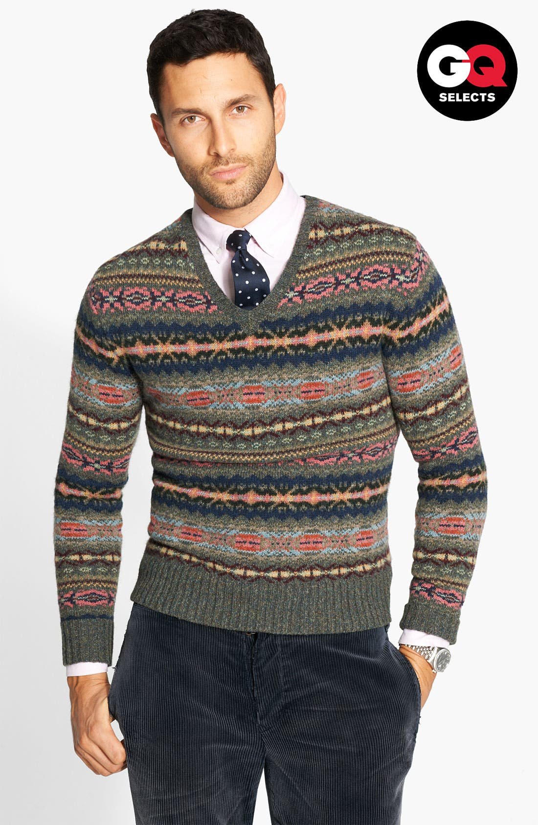 Alternate Image 1 Selected - Polo Ralph Lauren Fair Isle Sweater