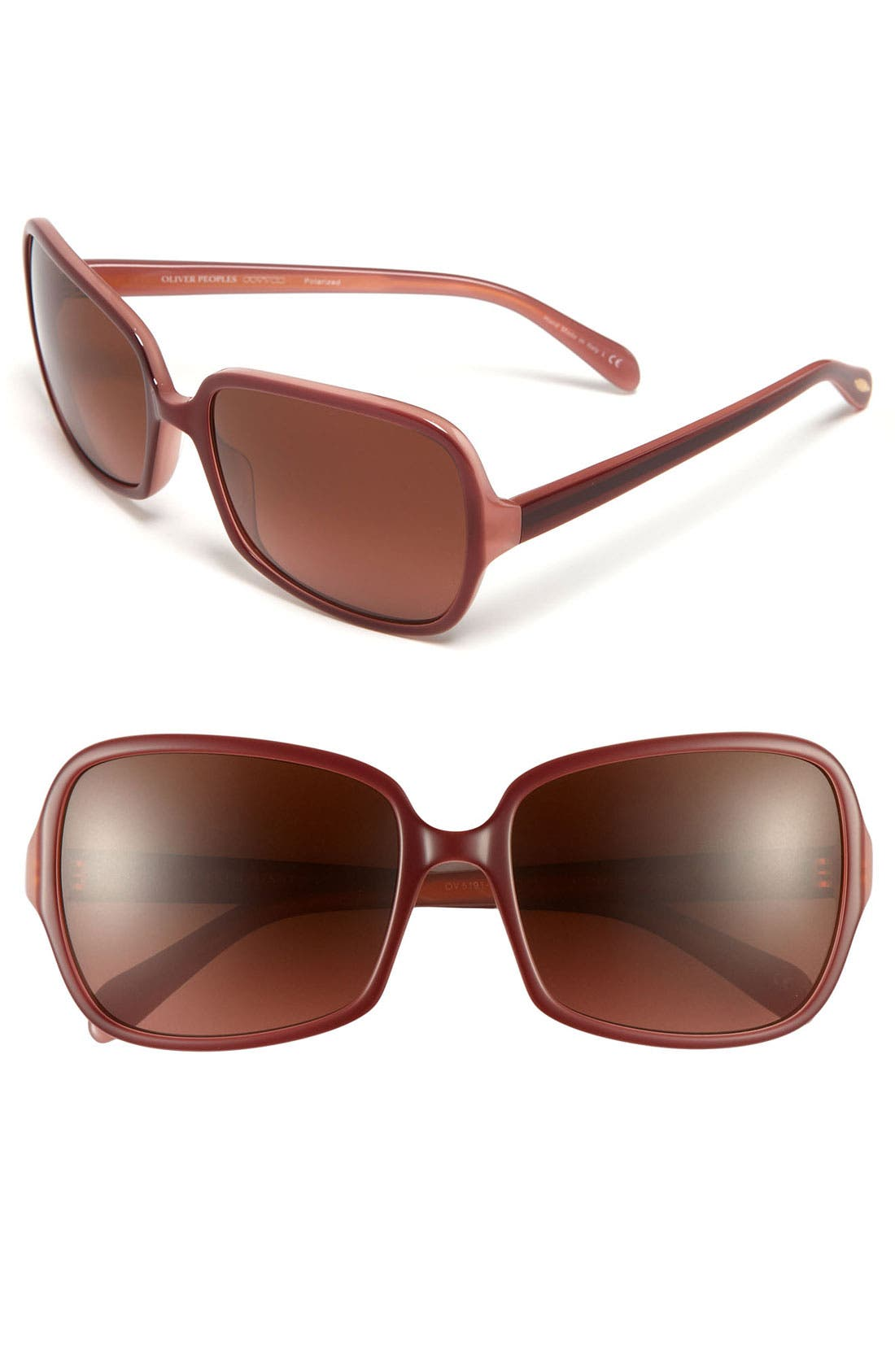 Alternate Image 1 Selected - Oliver Peoples 'Francesca' Polarized Sunglasses