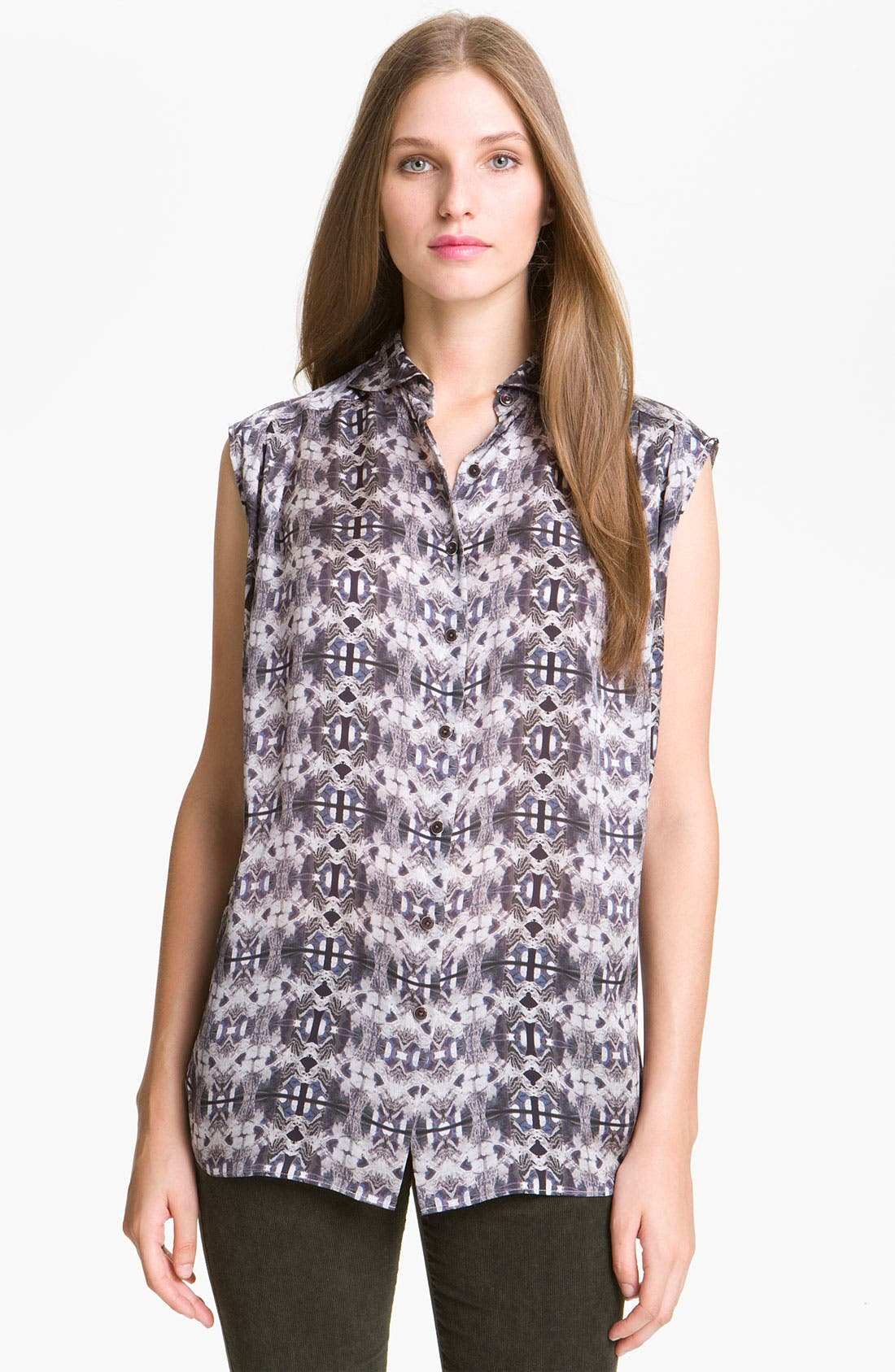 Alternate Image 1 Selected - Theyskens' Theory 'Braque Imoges' Blouse (Nordstrom Exclusive)