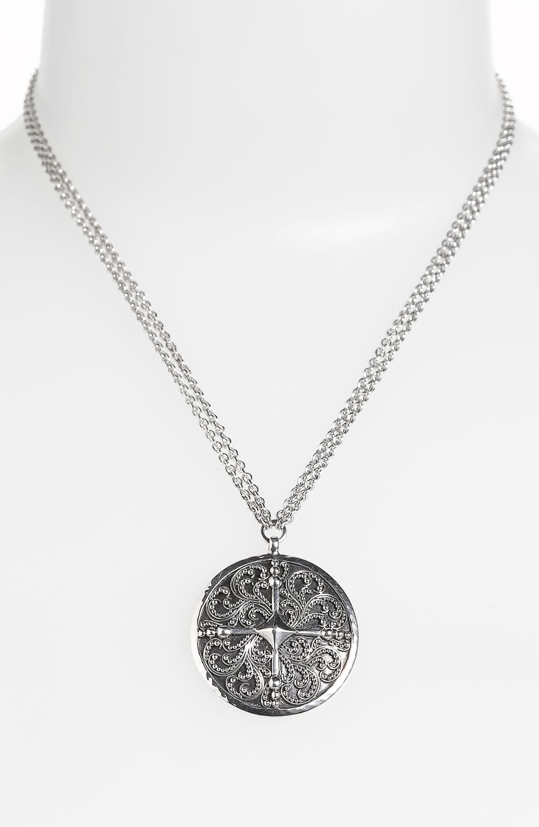 Alternate Image 1 Selected - Lois Hill 'Haveli' Round Pendant Necklace