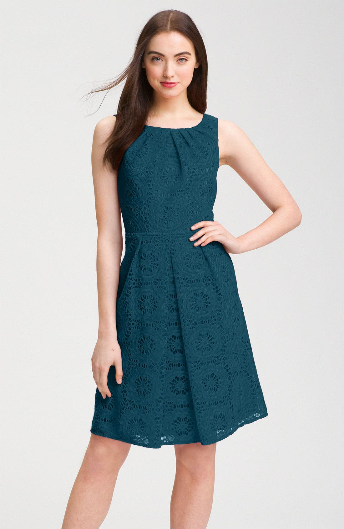 Alternate Image 1 Selected - Adrianna Papell Crochet A-Line Dress