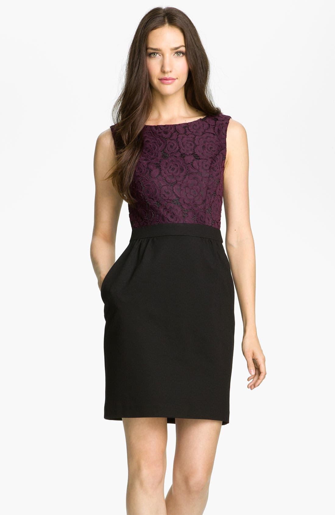 Main Image - Trina Turk 'Fable' Lace & Ponte Sheath Dress
