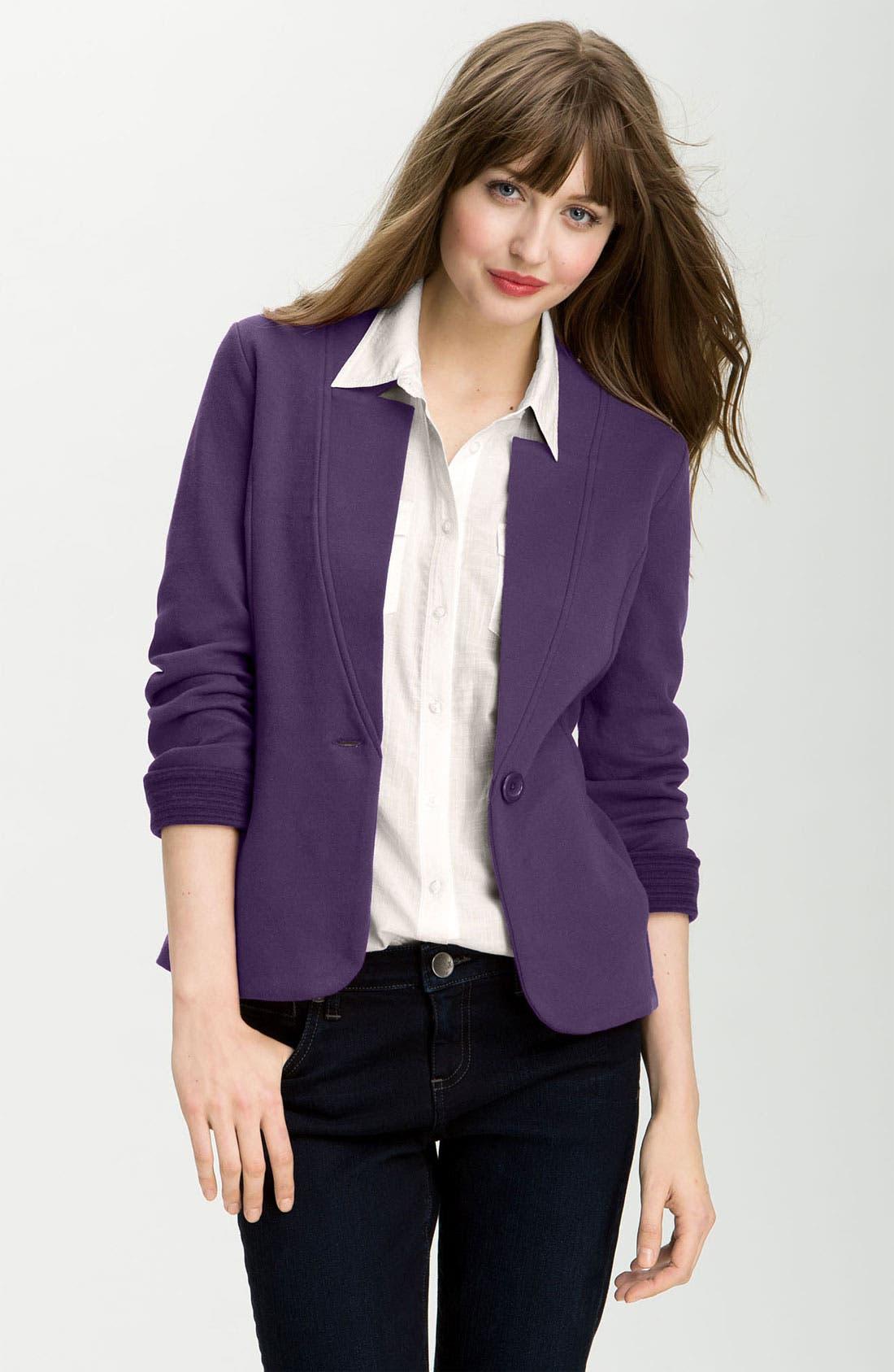 Alternate Image 1 Selected - Caslon® Double Knit Blazer