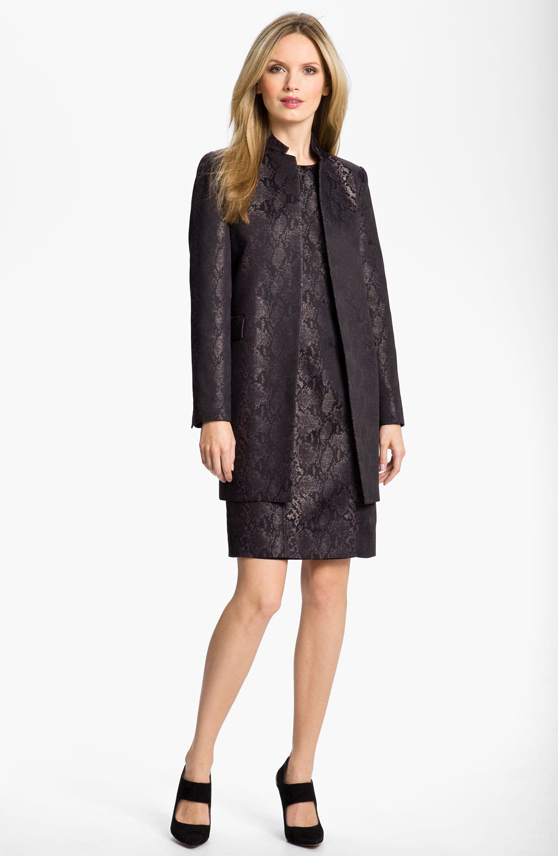 Alternate Image 4  - Louben Python Jacquard Sheath Dress